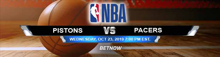 Detroit Pistons vs Indiana Pacers 10/23/2019 NBA Odds, Spread and Game Analysis