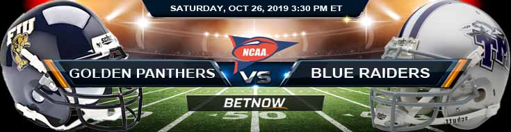 FIU Golden Panthers vs Middle Tennessee Blue Raiders 10-26-2019 Picks Predictions Previews