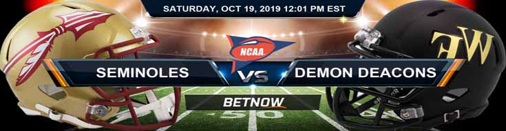 Florida State Seminoles vs Wake Forest Demon Deacons 10-19-19 NCAAF Odds and Picks