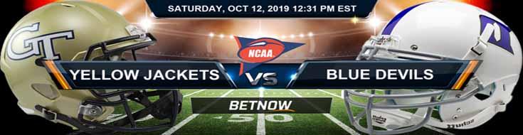 Georgia Tech Yellow Jackets vs Duke Blue Devils 10-12-2019 NCAAF Betting Spread