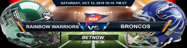 Hawaii Rainbow Warriors vs Boise State Broncos 10-12-2019 Picks Predictions Previews