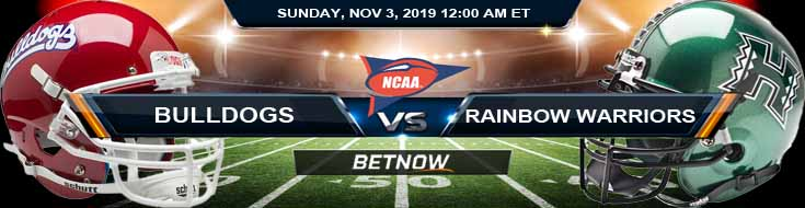 Hawaii Rainbow Warriors vs Fresno State Bulldogs 11-03-2019 Odds Picks and Previews