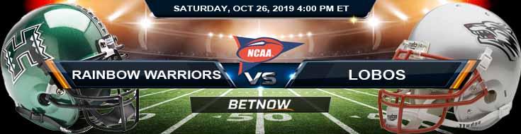 Hawaii Rainbow Warriors vs New Mexico Lobos 10-26-2019 Picks Predictions and Odds