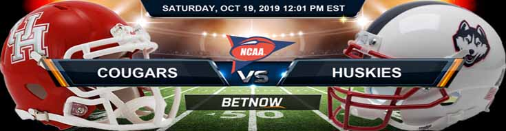 Houston Cougars vs UConn Huskies 10-19-19 Odds, Picks and Previews