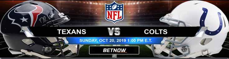 Houston Texans vs Indianapolis Colts 10-20-2019 Picks Predictions Previews