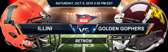 Illinois Fighting Illini vs Minnesota Golden Gophers 10-05-2019 Odds, Picks and Game Analysis