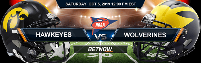 Iowa Hawkeyes vs Michigan Wolverines 10/5/2019 NCAAF