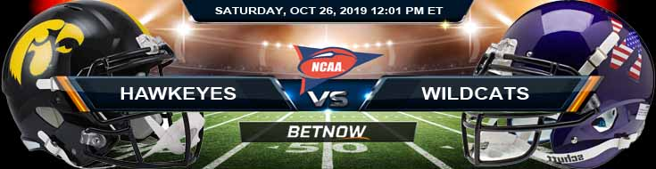 Iowa Hawkeyes vs Northwestern Wildcats 10-26-2019 Picks Odds Predictions