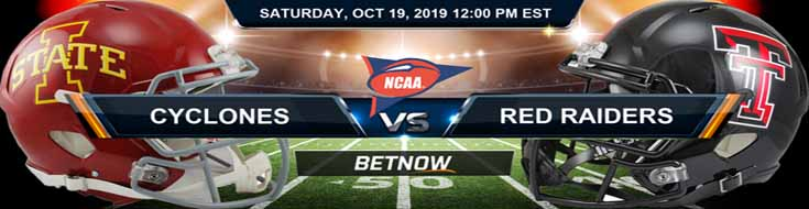 Iowa State Cyclones vs Texas Tech Red Raiders 10-19-19 Odds, Picks, Game Analysis