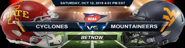 Iowa State Cyclones vs West Virginia Mountaineers 10-12-2019 Odds, Picks and Preview