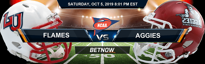 Liberty Flames vs New Mexico State Aggies 10-5-2019 Odds, Picks and Previews