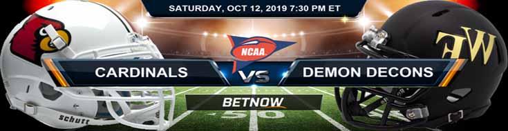 Louisville Cardinals vs Wake Forest Demon Deacons 10-12-2019 Picks Predictions Previews