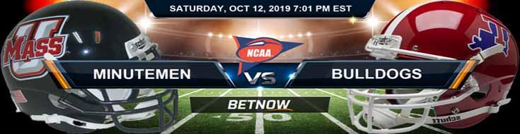 Massachusetts Minutemen vs Louisiana Tech Bulldogs 10-12-2019 NCAAF Odds, Picks and Preview