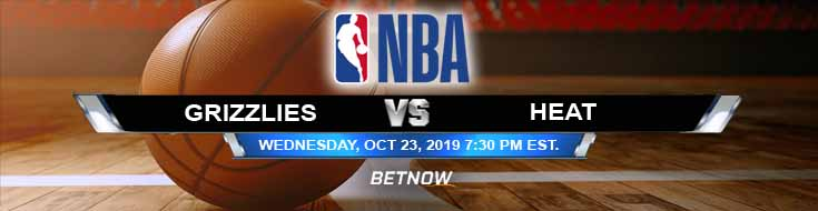 Memphis Grizzlies vs Miami Heat 10-23-2019 NBA Odds and Picks