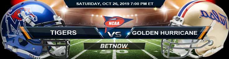 Memphis Tigers vs Tulsa Golden Hurricane 10-26-2019 Odds, Game Analysis and Picks