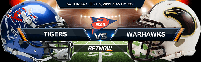 Memphis Tigers vs UL Monroe Warhawks 10-05-2019 Odds, Picks and Preview