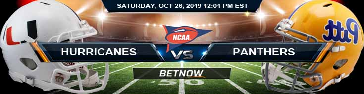 Miami-FL Hurricanes vs Pittsburgh Panthers 10-26-2019