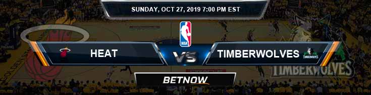 Miami Heat vs Minnesota Timberwolves 10-27-2019 NBA Spread and Game Analysis