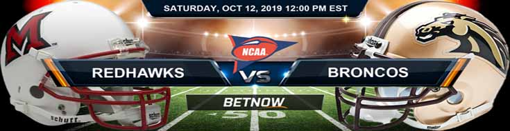 Miami-Ohio Redhawks vs Western Michigan Broncos 10-12-2019 NCAAF Betting Spread