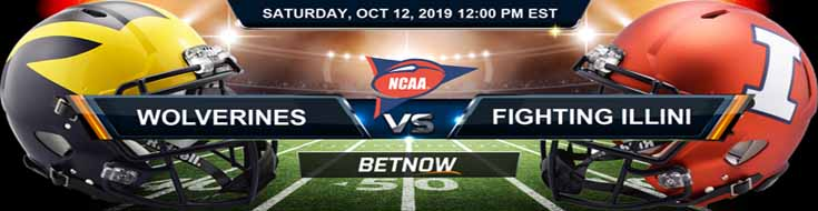 Michigan Wolverines vs Illinois Fighting Illini 10-12-2019 Odds, Picks and Preview