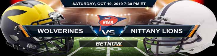 Michigan Wolverines vs Penn State Nittany Lions 10-19-2019 Picks Predictions Previews