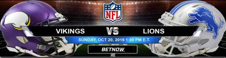 Minnesota Vikings vs Detroit Lions 10-20-2019 Picks Predictions Previews