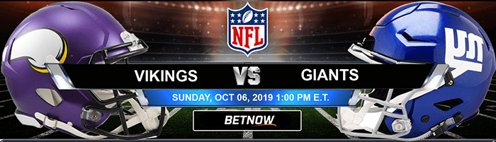 Minnesota Vikings vs New York Giants 10-06-2019 Odds and Game Analysis