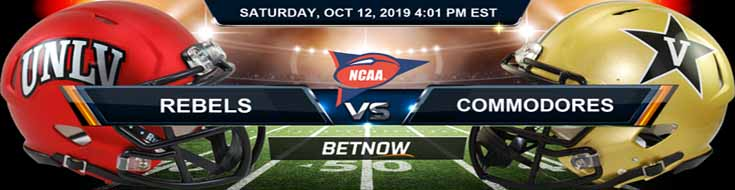 Nevada-Las Vegas Rebels vs Vanderbilt Commodores 10-12-2019 Odds, Picks Preview