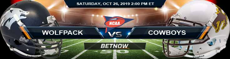 Nevada Wolfpack vs Wyoming Cowboys 10-26-2019 Odds Predictions Previews