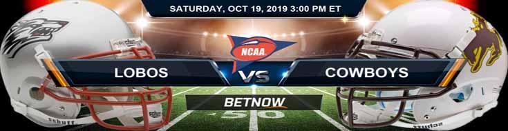 New Mexico Lobos vs Wyoming Cowboys 10-19-2019 Picks Predictions Previews