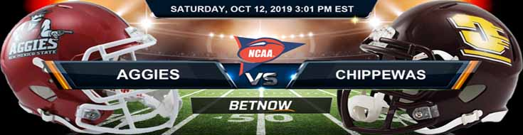 New Mexico State Aggies vs Central Michigan Chippewas 10-12-2019 NCAAF Betting Spread
