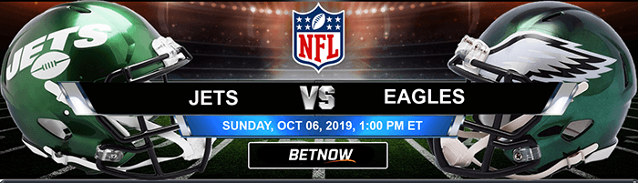 New York Jets vs Philadelphia Eagles 10-06-2019 Odds, Picks and Preview