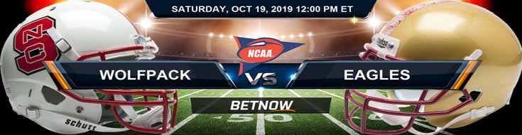 North Carolina State Wolfpack vs Boston College Eagles 10-19-2019 Picks Predictions Previews