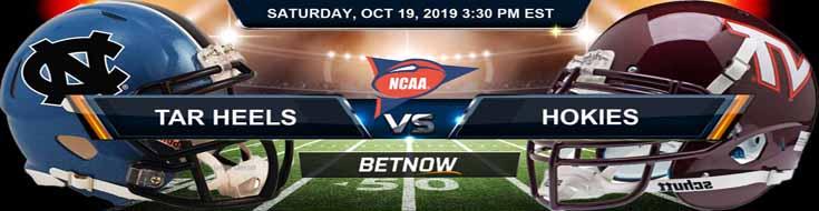 North Carolina Tar Heels vs Virginia Tech Hokies 10-19-19 NCAAF Expert Picks