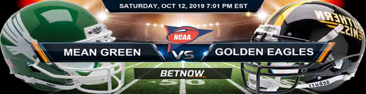 North Texas Mean Green vs Southern Miss Golden Eagles 10-12-2019 NCAAF Betting Spread