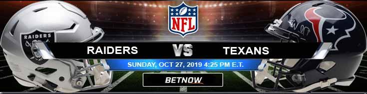 Oakland Raiders vs Houston Texans 10-27-2019 Picks Predictions and Previews