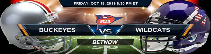 Ohio State Buckeyes vs Northwestern Wildcats 10-18-2019 Picks Predictions Previews