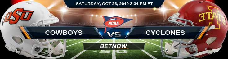 Oklahoma State Cowboys vs Iowa State Cyclones 10-26-2019 Picks Prediction and Odds