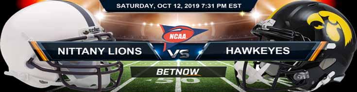 Penn State Nittany Lions vs Iowa Hawkeyes 10-12-2019 Odds, Picks and Preview