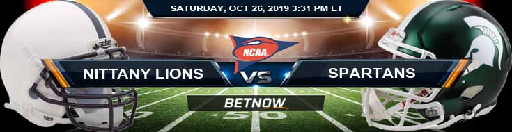 Penn State Nittany Lions vs Michigan State Spartans 10-26-2019 Picks Preview and Game Analysis