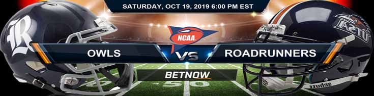 Rice Owls vs Texas San Antonio Roadrunners 10-19-19 Odds, Picks and Preview
