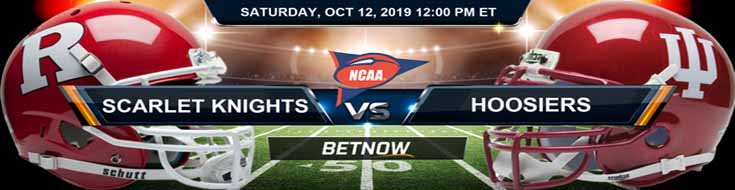 Rutgers Scarlet Knights vs Indiana Hoosiers 10-12-2019 NCAAF Betting Spread