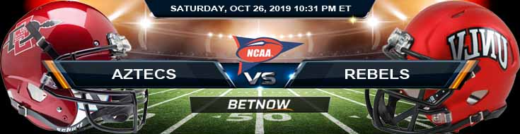 San Diego State Aztecs vs UNLV Rebels 10-26-2019 Odds Picks and Prediction