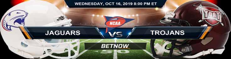 South Alabama Jaguars vs Troy Trojans 10/16/2019 NCAAF Odds and Picks
