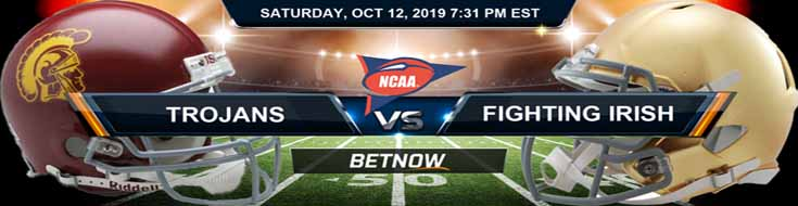 South California Trojans vs Notre Dame Fighting Irish 10-12-2019 Odds, Picks and Preview