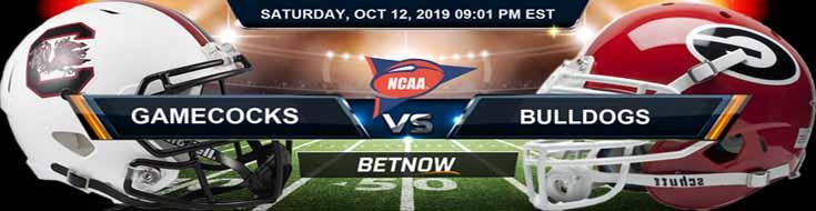 South Carolina Gamecocks vs Georgia Bulldogs 10-12-2019 Odds, Picks and Game Analysis