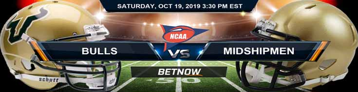 South Florida Bulls vs Navy Midshipmen 10-19-19 NCAAF Expert Picks and Odds