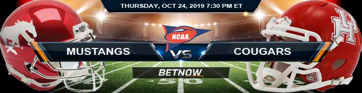 Southern Methodist Mustangs vs Houston Cougars 10-24-2019 Picks, Predictions and Preview