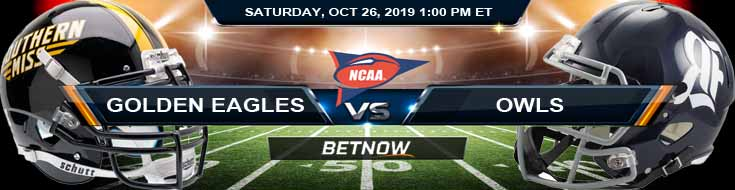 Southern Miss Golden Eagles vs Rice Owls 10-26-2019 Picks Predictions Previews
