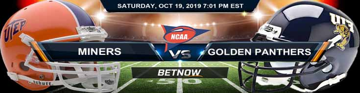 Texas El Paso Miners vs Florida International Golden Panthers 10-19-19 Odds, Picks